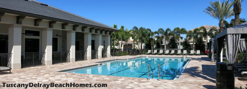 The pool area at Tuscany in Delray Beach, FL.